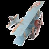 Vliegtuig blauw_