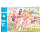 Vintage, Houten Puzzel_
